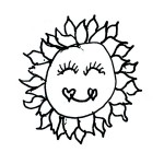 Smiling Sun by Peggy Chaney - a found doodle