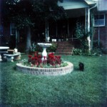 Back porch. The dog is the family poodle, Angel. 702 Marion Street, Kings Mountain, North Carolina. Circa 1975.