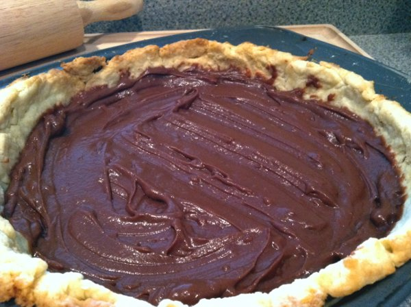 Baked Chocolate Pie