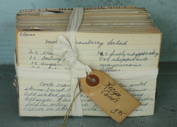 Bundle of Vintage Recipe Cards